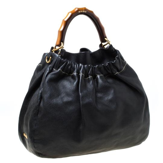 Miu Miu Leather Hobo Bag Image 3