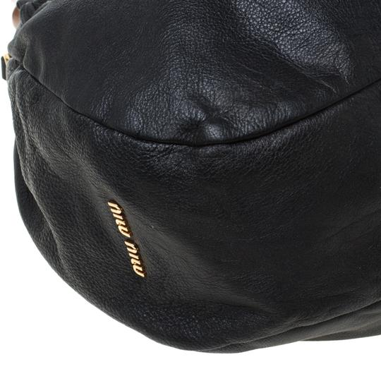 Miu Miu Leather Hobo Bag Image 9