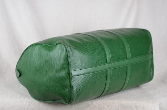 Louis Vuitton Lv Cuir Keepall Speedy Neverfull Tote in Green Image 2