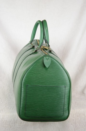 Louis Vuitton Lv Cuir Keepall Speedy Neverfull Tote in Green Image 3