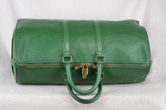 Louis Vuitton Lv Cuir Keepall Speedy Neverfull Tote in Green Image 5