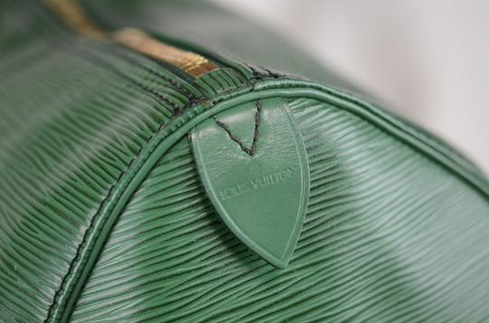 Louis Vuitton Lv Cuir Keepall Speedy Neverfull Tote in Green Image 6