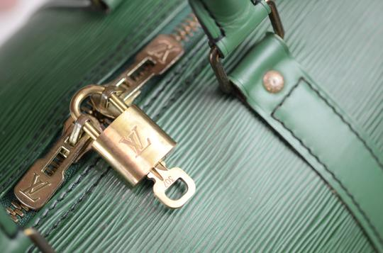 Louis Vuitton Lv Cuir Keepall Speedy Neverfull Tote in Green Image 7