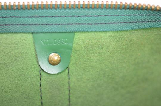 Louis Vuitton Lv Cuir Keepall Speedy Neverfull Tote in Green Image 8