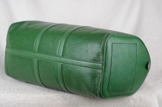 Louis Vuitton Lv Cuir Keepall Speedy Neverfull Tote in Green Image 9