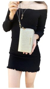 Michael Kors Womens Accessories Wristlet in Pale Gold