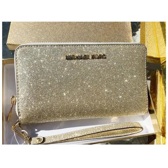 Michael Kors Womens Accessories Wristlet in Pale Gold Image 8