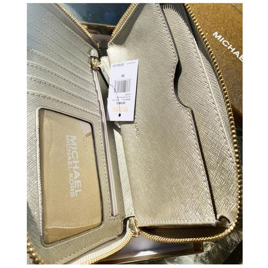 Michael Kors Womens Accessories Wristlet in Pale Gold Image 9