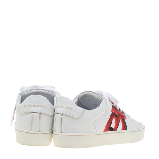 Burberry Leather White Athletic Image 4