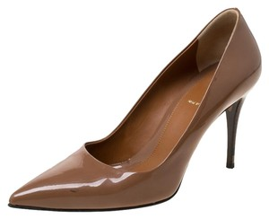 Fendi Patent Leather Pointed Toe Brown Pumps