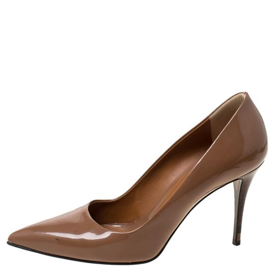 Fendi Patent Leather Pointed Toe Brown Pumps Image 1