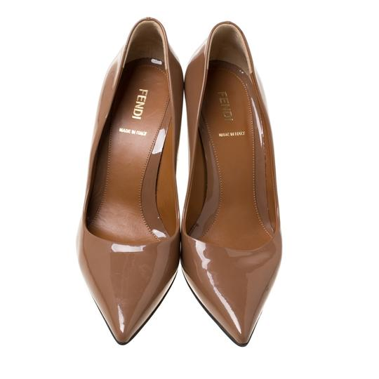 Fendi Patent Leather Pointed Toe Brown Pumps Image 2