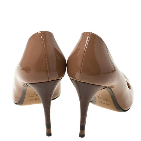 Fendi Patent Leather Pointed Toe Brown Pumps Image 3