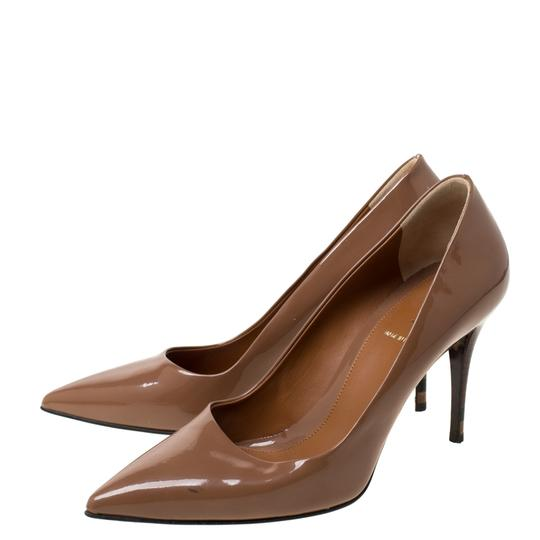 Fendi Patent Leather Pointed Toe Brown Pumps Image 4