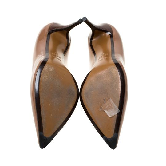 Fendi Patent Leather Pointed Toe Brown Pumps Image 6