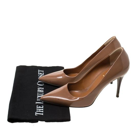 Fendi Patent Leather Pointed Toe Brown Pumps Image 7