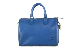 Louis Vuitton Lv Speedy Epi 25 Neverfull Tote in Blue