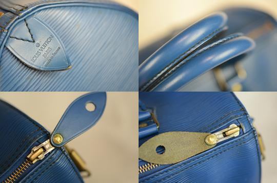 Louis Vuitton Lv Speedy Epi 25 Neverfull Tote in Blue Image 1