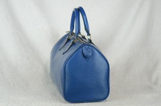 Louis Vuitton Lv Speedy Epi 25 Neverfull Tote in Blue Image 2