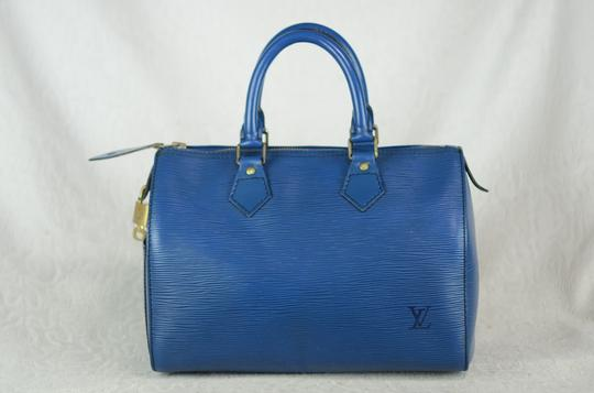 Louis Vuitton Lv Speedy Epi 25 Neverfull Tote in Blue Image 3