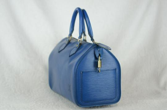 Louis Vuitton Lv Speedy Epi 25 Neverfull Tote in Blue Image 4