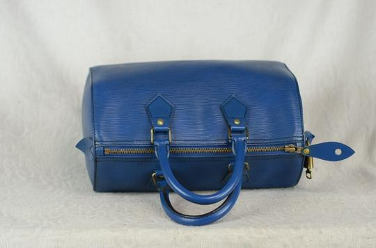 Louis Vuitton Lv Speedy Epi 25 Neverfull Tote in Blue Image 6