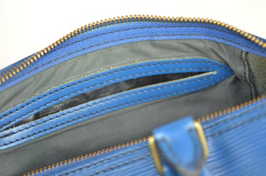 Louis Vuitton Lv Speedy Epi 25 Neverfull Tote in Blue Image 9
