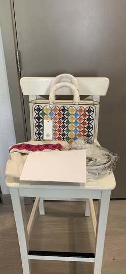 Tory Burch Robinson Embroidered Tote in Multi Image 3