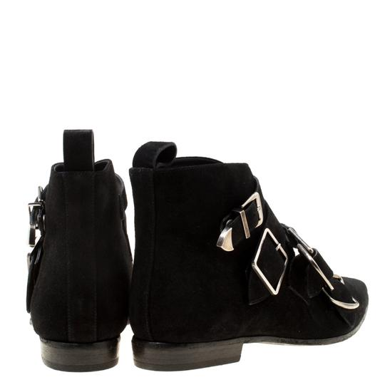 Burberry Suede Detail Pointed Toe Ankle Black Boots Image 4