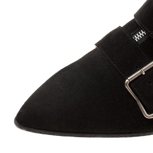 Burberry Suede Detail Pointed Toe Ankle Black Boots Image 6