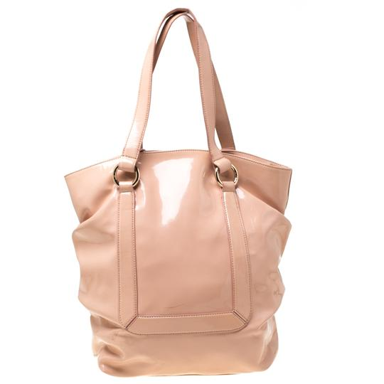Emporio Armani Patent Leather Tote in Pink Image 1