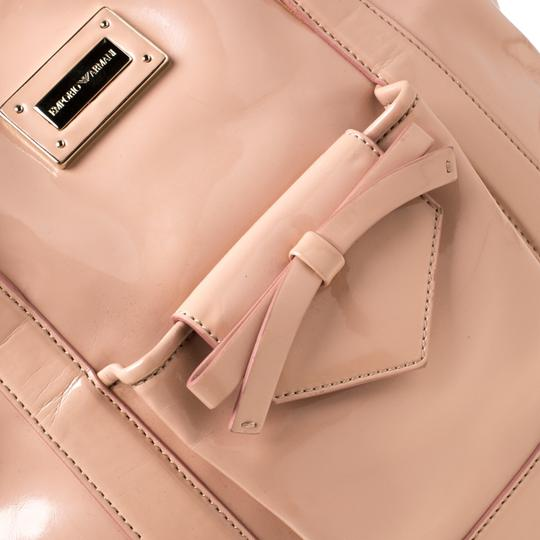 Emporio Armani Patent Leather Tote in Pink Image 10