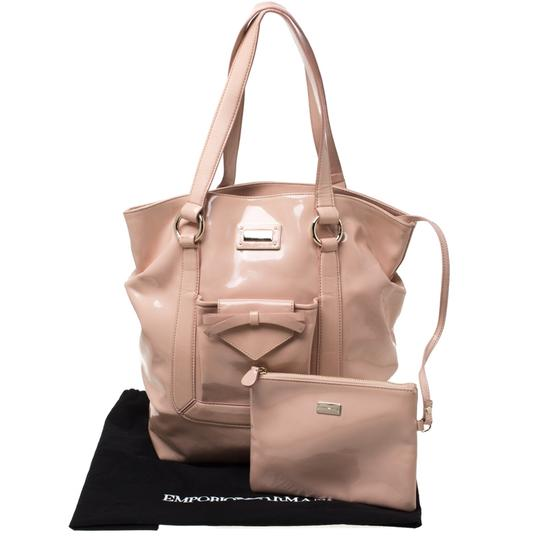 Emporio Armani Patent Leather Tote in Pink Image 11