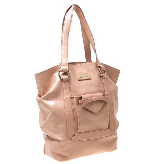 Emporio Armani Patent Leather Tote in Pink Image 3