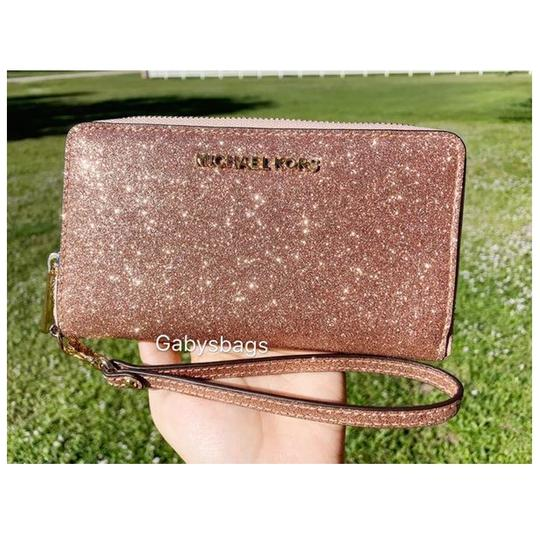 Michael Kors Womens Accessories Wristlet in Rose Gold Image 10