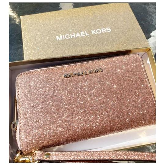 Michael Kors Womens Accessories Wristlet in Rose Gold Image 11