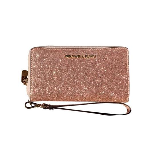 Michael Kors Womens Accessories Wristlet in Rose Gold Image 5
