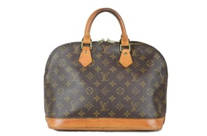 Louis Vuitton Monogram Alma Canvas Tote in Brown