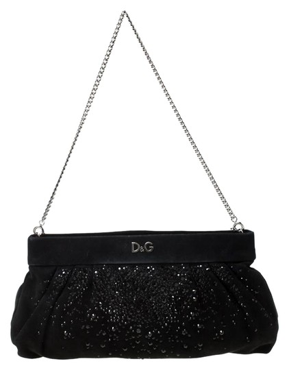Preload https://img-static.tradesy.com/item/25958068/dolce-and-gabbana-crystal-embellished-chain-black-suede-clutch-0-1-540-540.jpg