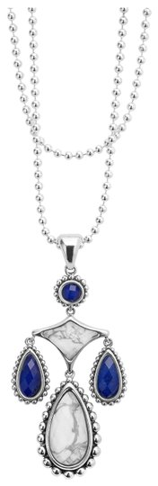 Preload https://img-static.tradesy.com/item/25958072/lagos-blue-and-white-caviar-sterling-silver-maya-lapis-howlit-pendant-necklace-0-1-540-540.jpg