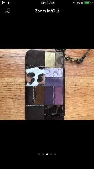 Coach Brown Patchwork Wristlet Image 2