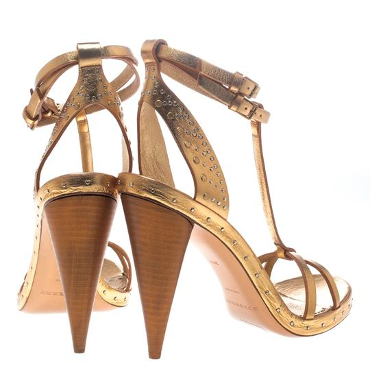 Burberry Metallic Leather Gold Sandals Image 3