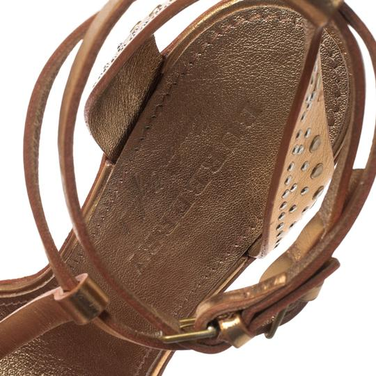Burberry Metallic Leather Gold Sandals Image 5
