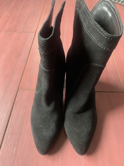 Ivanka Trump Suede Leather Ankle black Boots Image 1