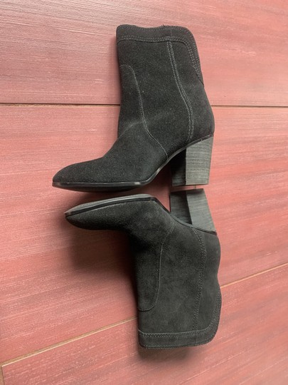 Ivanka Trump Suede Leather Ankle black Boots Image 4