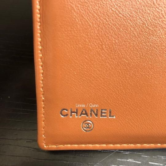 Chanel Classic Caviar Leather Wallet Clutch Tan Camel SHW Image 8
