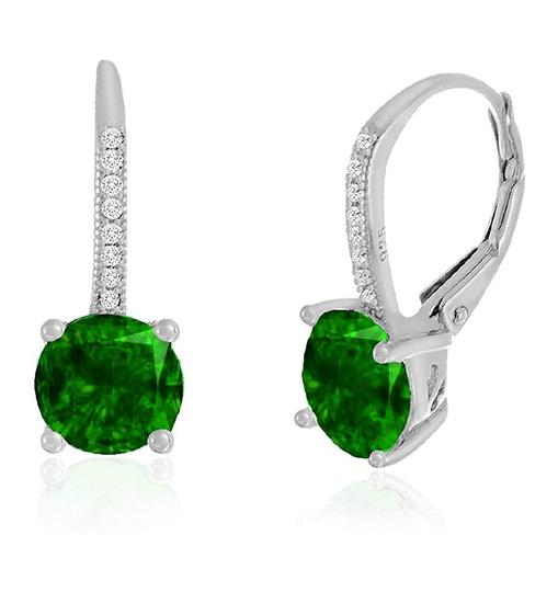 Other GREEN SAPPHIRE LEVERBACK EARRINGS Image 1