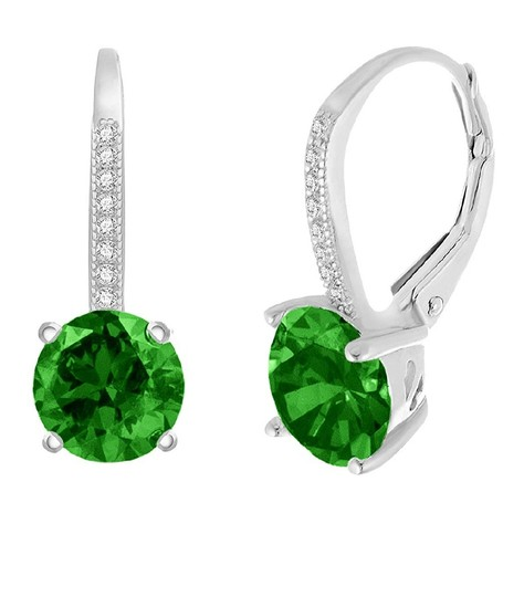 Other GREEN SAPPHIRE LEVERBACK EARRINGS Image 3