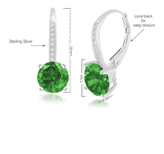 Other GREEN SAPPHIRE LEVERBACK EARRINGS Image 4