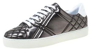 Burberry Quilted Leather Metallic Athletic